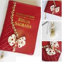 Capa da Bíblia  Média Personalizada/Decorada Com Zíper e Impresso