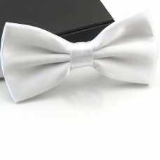 Gravata Borboleta de Seda -Branca