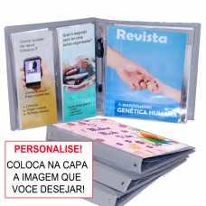 Pasta Revista e Folhetos  para  Personalizar - Publicador Cinza