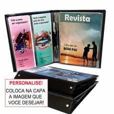 Pasta Revista e Folhetos  para  Personalizar - Publicador Preto