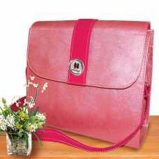 Bolsa Feminina Alça Transversal Pequena c/espaço água - Rosa